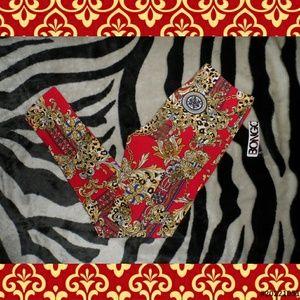 Red & Gold Leggings BNWT